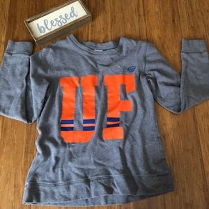 PINK long sleeve grey and orange sweatshirt